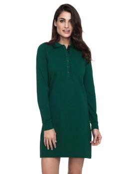Vestido Senhora Javier Larrainzar Verde Escuro