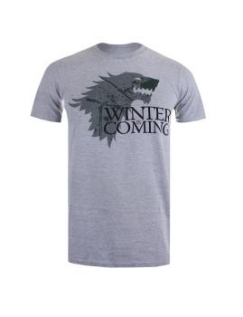 T-shirt Winter Homem Cinza Mesclado