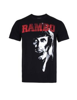 T-shirt Rambo 2 Homem Preto