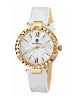 Relógio Reichenbach Loos Senhora Dourado Rosa e Branco