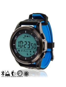 Relógio Digital Com Bluetooth, Pedômetro, Aviso Notificações Preto/Azul
