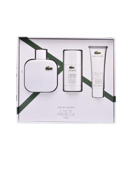 Coffret Eau De Lacoste L.12.12 Blanc Pour Homme Pack 3 Produtos