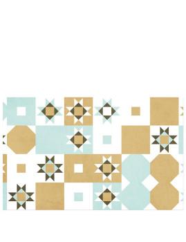 Tapete De Cozinha Vinyl Desert Tiles 80Cm