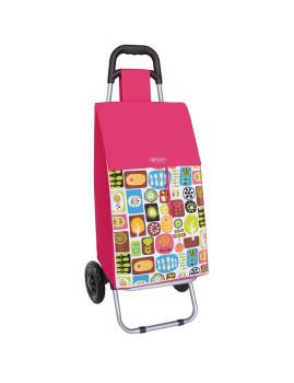 Trolley Para Compras Mosaic Fúcsia 45 L.