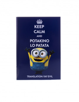 Pasta A5 Keep Calm Minions II