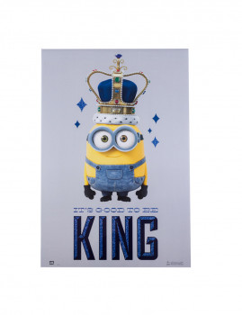Poster Decorativo It's Good to be King Minions