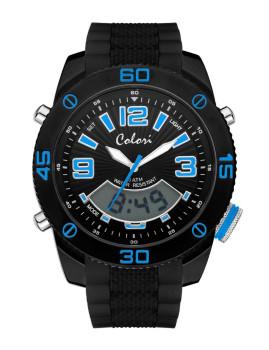 Relógio Colori Preto&Azul