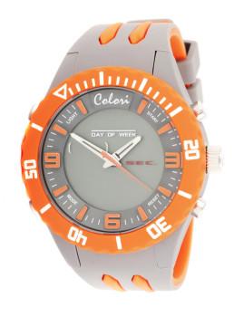 Relógio Colori Cinza&Laranja