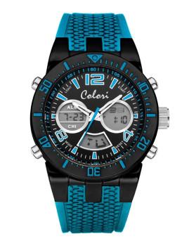 Relógio Colori Azul e Preto