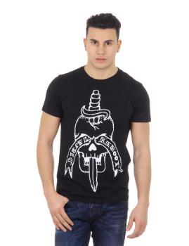 T-shirt Reboot-T-Skull-Dagger Azul Diesel