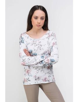T-shirt Senhora Dioxide Alanna Branco, Azul, Rosa, Verde