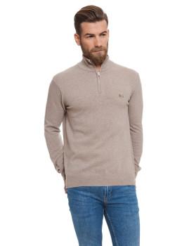 Jersey tricot com zip Lonsdale Beige
