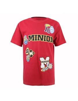 T-shirt Minions Patches Vermelho