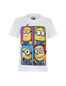 T-shirt Minions Minions Squares Branco