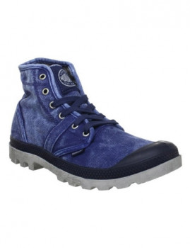Ténis Palladium Pallabrouse Azul Navy e Metal