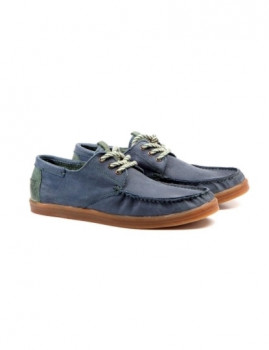 Sapatos Náuticos com sola Latex Slow Walk Azul Navy