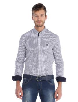 Camisa Sir Raymond Tailor Hybrid Branca e Preta
