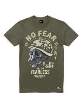 T-Shirt de Homem Bravery Verde Tropa