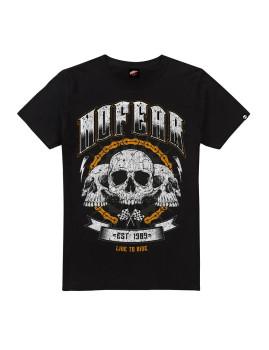 T-Shirt de Homem Skull Chain Preto