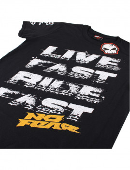 T-Shirt de Homem Live Fast Ride Fast Preto