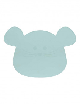 imagem de Individual em Silicone Little Chums Mouse Azul1