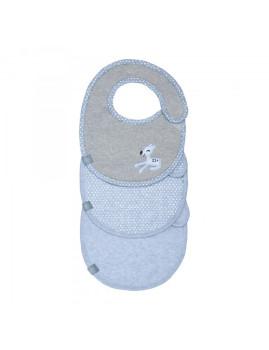 imagem de Babete Impermeável Llela Light Blue (Pack 3 Unidades)1