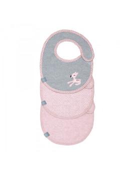 imagem de Babete Impermeável Llela Light Pink (Pack 3 Unidades)1
