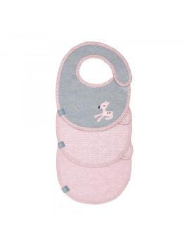 imagem de Babete Impermeável Llela Light Pink (Pack 3 Unidades)2