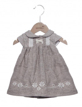 Vestido Bebé Girandola Bege