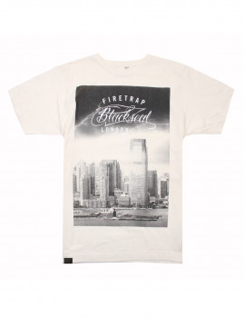 T-Shirt New York Storm Branco Vintage