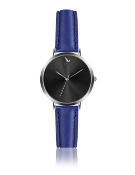 Relógio Emily Westwood Prateado e Azul Royal Raio de sol preto