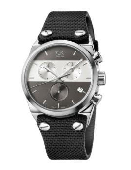 Relógio Calvin Klein Eager Prateado, Preto e Cinza Escuro