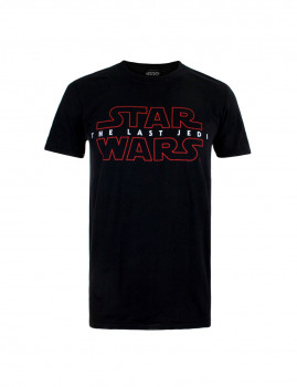 T-Shirt Last Jedi Logo Preto