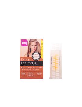 Beauty Oil Bandas De Cera Faciales Depilatorias 12 +8 Uds Taky