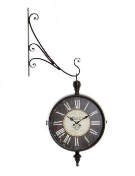 Relógio Parede Metal e Cristal Estação