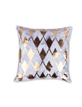 Capa de Almofada Decorativa Marmi Dourada
