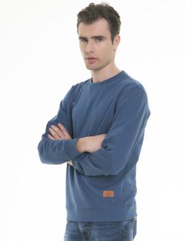 Sweatshirt  Big Star Jeans Tecido Azul Navy