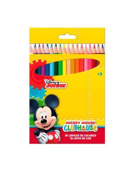 Lápis De Cores  18 Peças  Em Caixa  Mickey