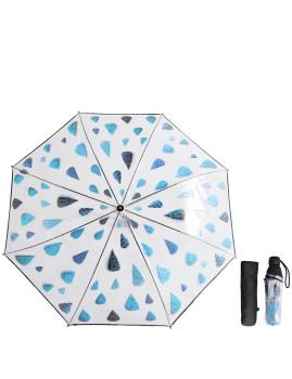 Mini Guarda-Chuva Rain Drops Transparente