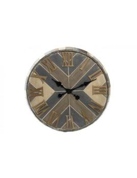 Relógio Parede Madeira Natural Boho