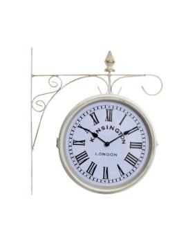 Relógio Parede Metal Cristal Estação