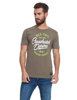 T-shirt Homem Laithkirk Caqui