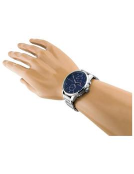 imagem de Relógio Homem Prateado e Azul6