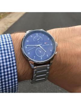 imagem de Relógio Homem Prateado e Azul5