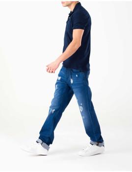 Calças Denim Azuis Homem MO