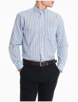 Camisa Pop M. Comprida Azul Claro Homem MO