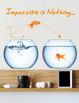 Adesivo Smart&Nice Impossible Is Nothing