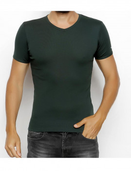T-shirt Wood on Wave Verde Escura