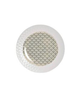 Prato Porcelana Chic Metalizado