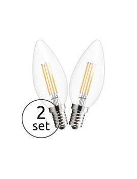 imagem de Lâmpada LED Globe Vidro Transparente Pack 21